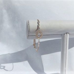 Jewelry - Bracelet rose gold with crystal heart